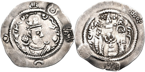 Drachme contremarquée imitant Hormazd IV 2720194
