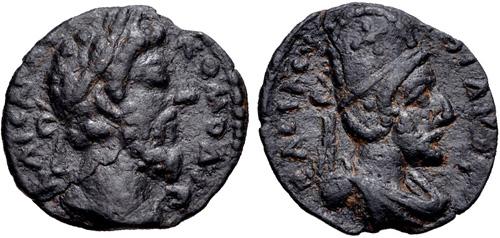 CNG: eAuction 313. MESOPOTAMIA, Edessa. Commodus, with Abgar VIII ...