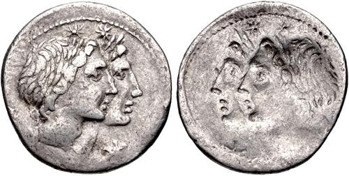 CNG: eAuction 396  Mn  Fonteius  108-107 BC  AR Denarius
