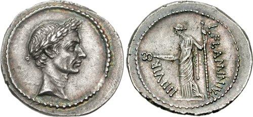Cng printed auction triton xiii julius caesar august 43 bc ar the finest known portrait denarius of julius caesar freerunsca Images