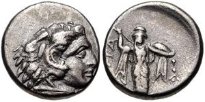 Dracma de la Liga de Tesalia. Atenea Itonia. 3540146